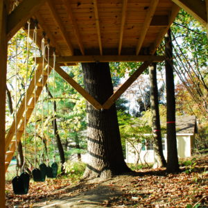 Simple Tree Platforms Intended This Treehouse Project Is Simple Place To Spend Some Adventurous Time Outside In The Backyard The Platform Covered With Metal Roof Enough Space Basic Backyard Treehouse Tree Houses By Top Builders