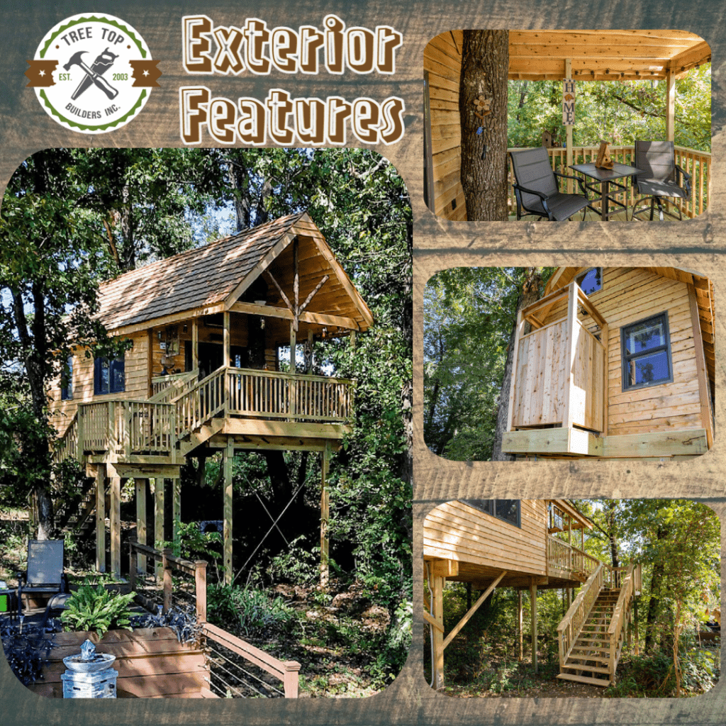 Exterior Features of Treehouse Rentals