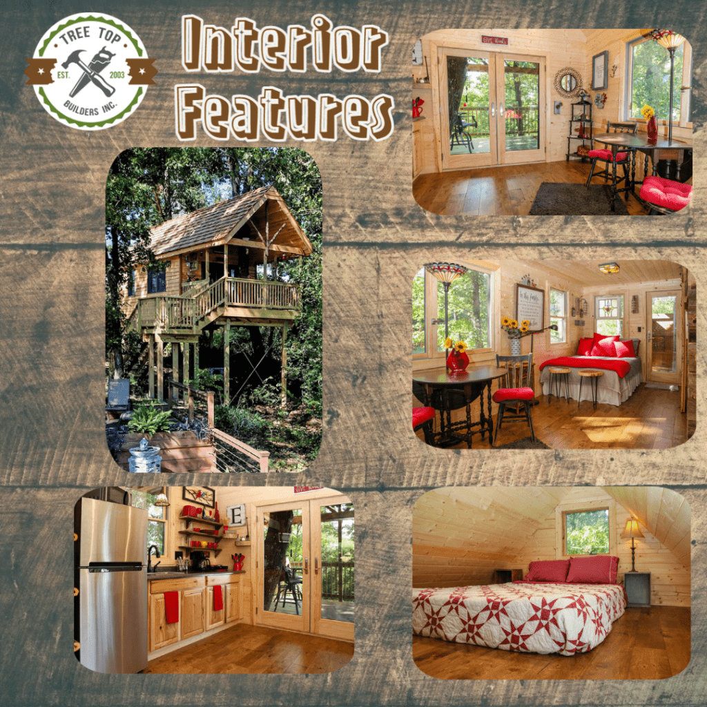 Interior Features of Treehouse Rentals